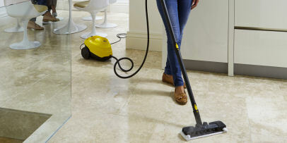 Karcher steam cleaner SC3 cleaning tiled floors