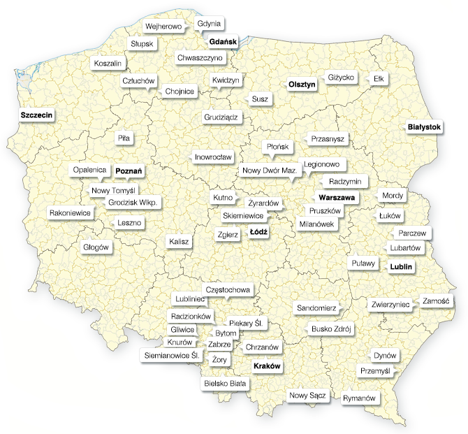Myjnie Yello w Polsce
