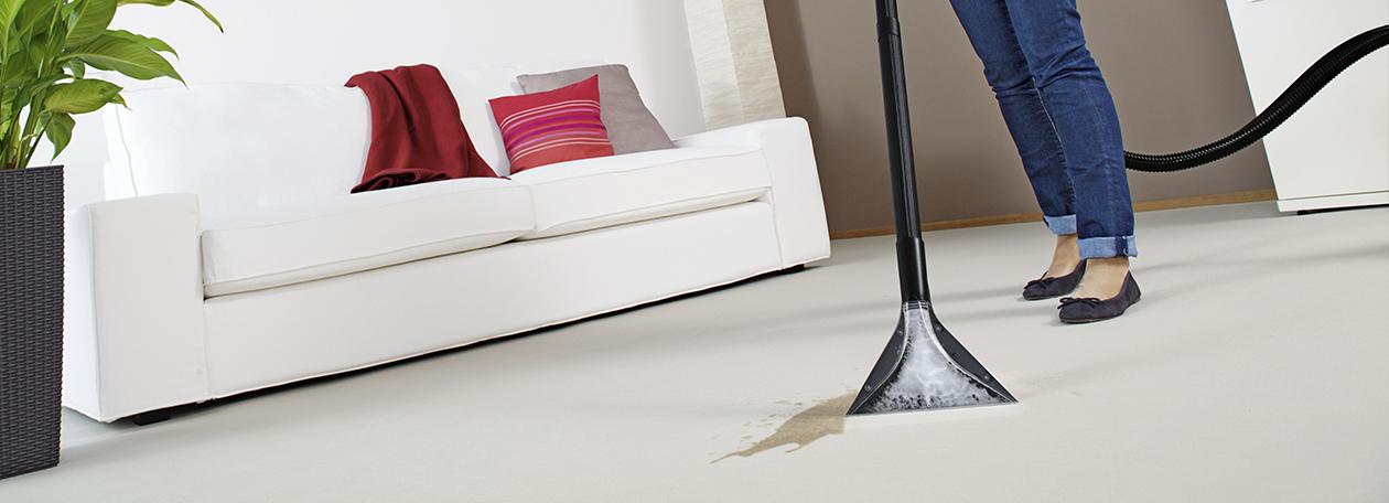 Teppichreinigung mit KärcherGeräten und Teppichreinigern