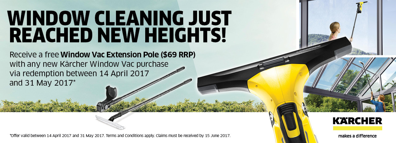 Receive a Free Extension Pole With Any New Kärcher Window Vac Purchase