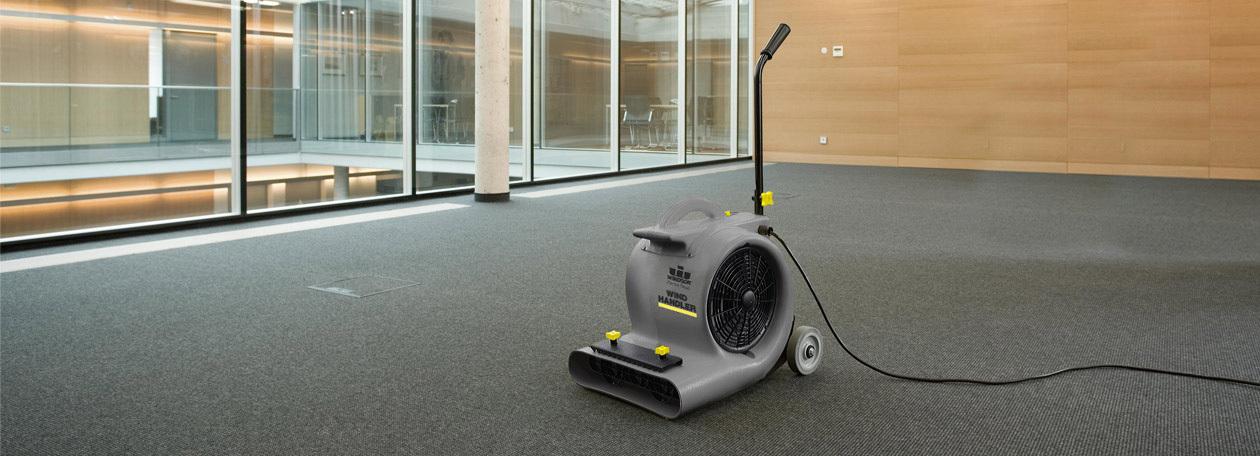Windsor air blowers help dry large areas quickly and efficiently