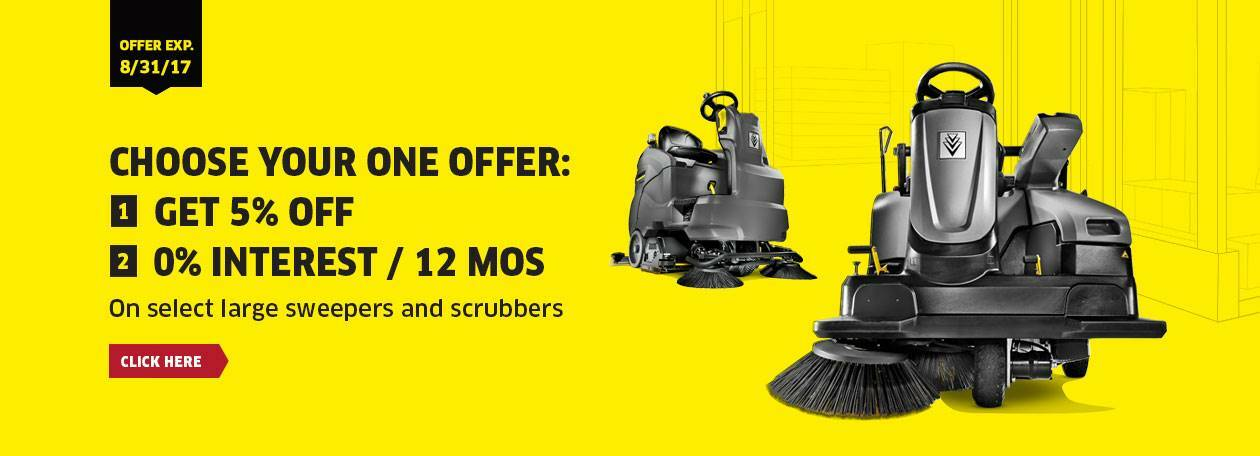 Karcher Summer Promo Industrial Sweepers Scrubbers