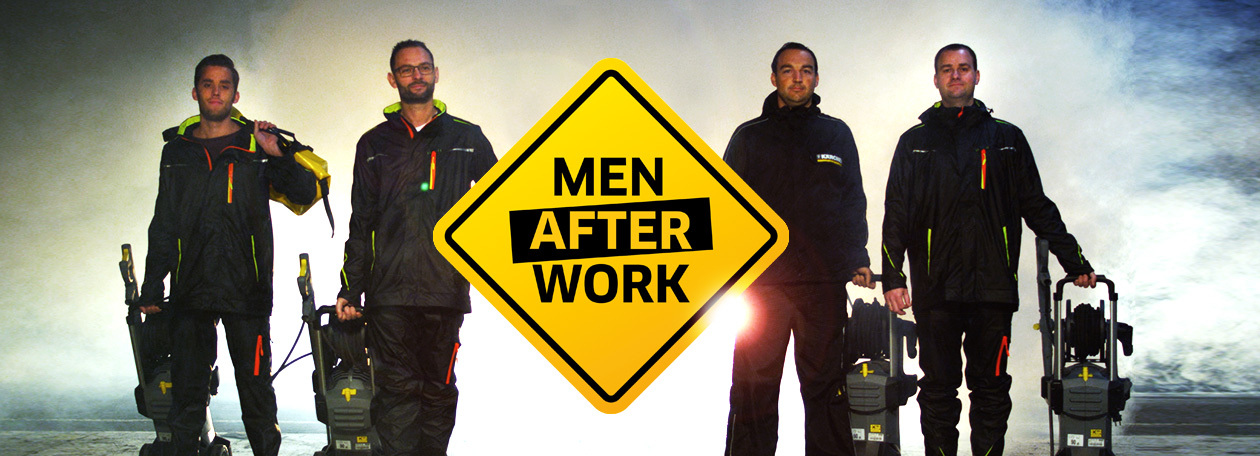 Men after work