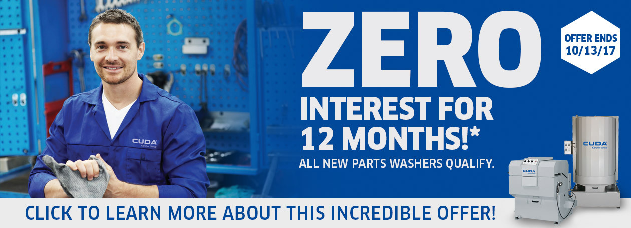 Cuda part washers Zero Percent Image for 12 Months