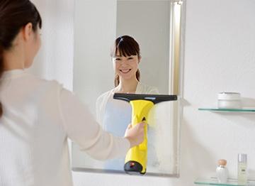 洗面台の鏡に