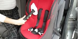 掃除しにくい車のシート、チャイルドシートの洗浄・除菌に