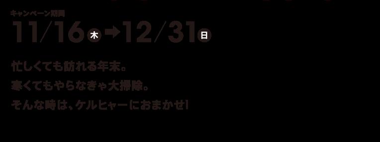 キャンペーン期間11/16ー12/31