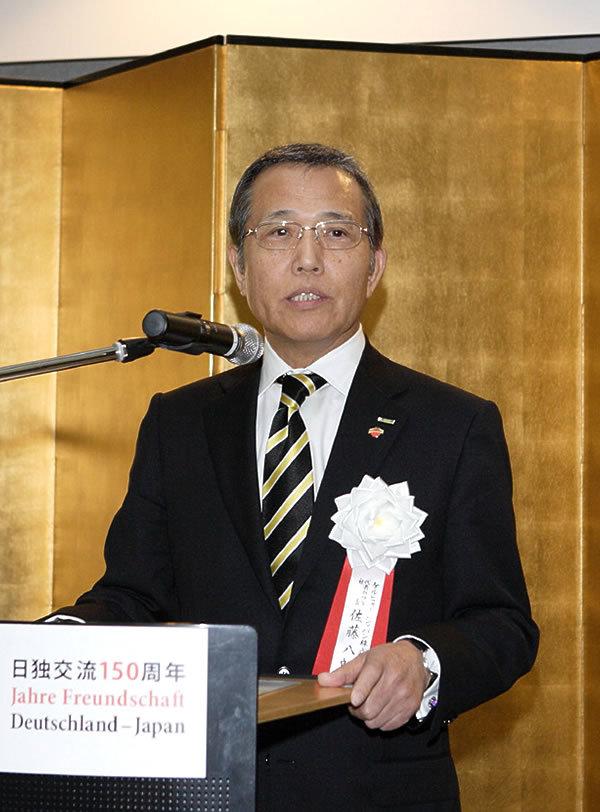 当社代表取締役社長 佐藤八郎
